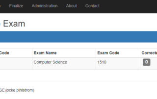 Choose Exam To Correct