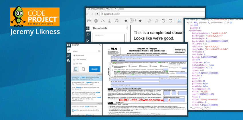Document Manipulation in Minutes with Plugin-Free HTML5 DocuVieware, by Jeremy Likness