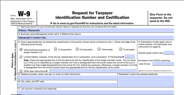 Figure 5: PDF document with form fields