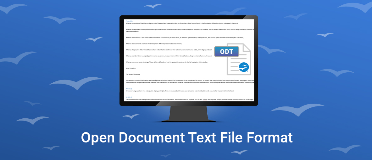 Open Document Text File Format Now Supported in GdPicture.NET and DocuVieware
