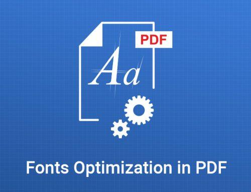 Fonts Optimization in PDF