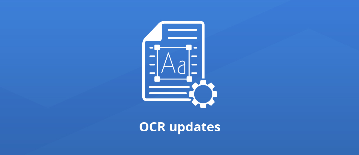 Illustration for the article about new major features and improvements in the GdPicture.NET OCR engine.