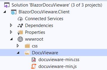 Select Docuvieware folder