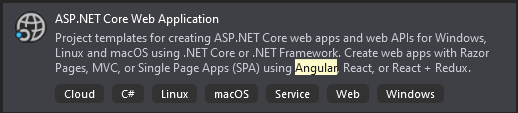 ASP.NET Core Web Application screenshot