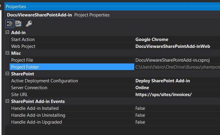 DocuVieware SharePoint environment