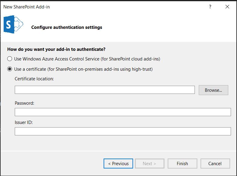 SharePoint Certificate screenshot