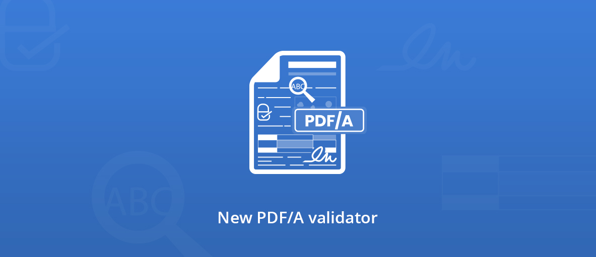 PDF/A validator illustration.